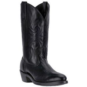 LAREDO MEN'S EMBROIDERED ROUND TOE WESTERN BOOTS